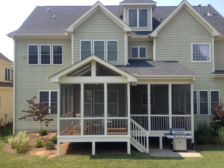 Cjc custom homes llc porches decks gallery for Cj custom homes